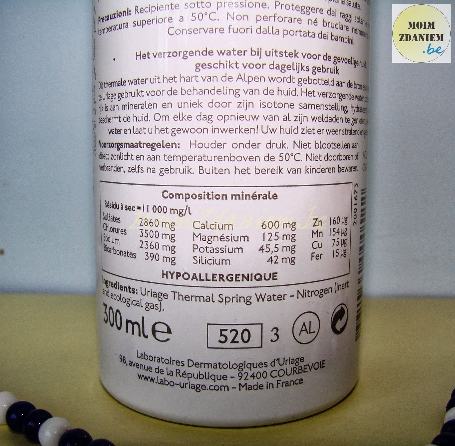 woda-termalna-uriage skład